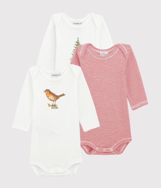 Petit Bateau x Deyrolle Baby Girls' Long-Sleeved Bodysuit - 3-Piece Set . set