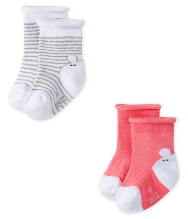 Unisex Babies' Socks - 2-Piece Set . set