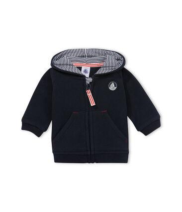 Baby boy sweatshirt in polar fleece with milleraies lining