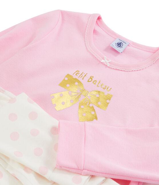 Girls' Ribbed Pyjamas BONBEC/ECUME