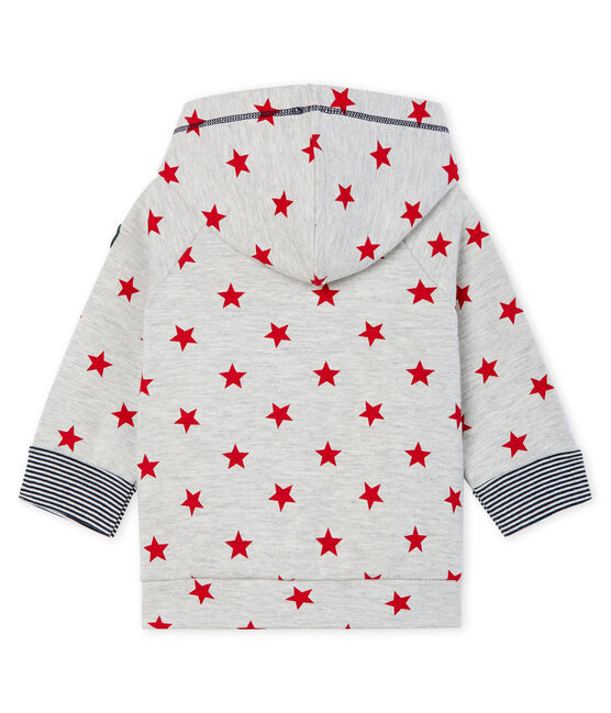 Baby Boys' Print Zip-Up Hoody Beluga grey / Terkuit red