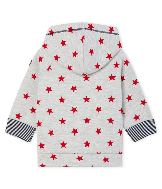 Baby Boys' Print Zip-Up Hoody Beluga grey / Terkuit red