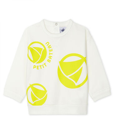 Unisex Baby's Light Sweatshirt Marshmallow white