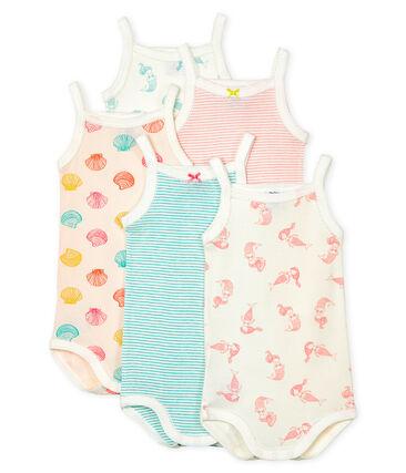 Baby Girls' Bodysuits with Straps - 5-Piece Set . set