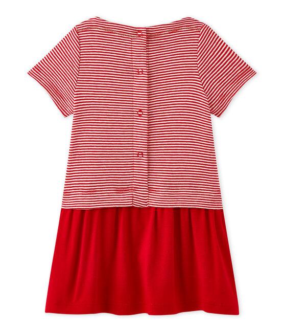 Baby girl's milleraies-striped dress Terkuit red / Marshmallow white