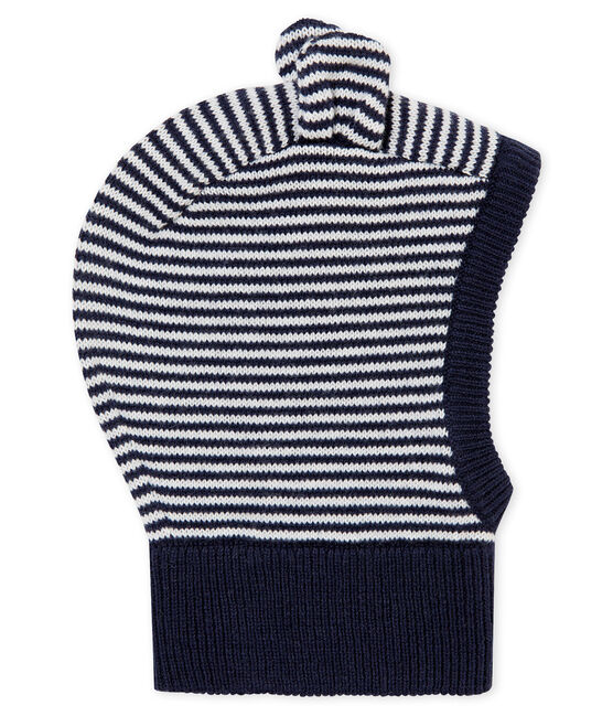 Unisex Baby Balaclava Smoking blue / Marshmallow white