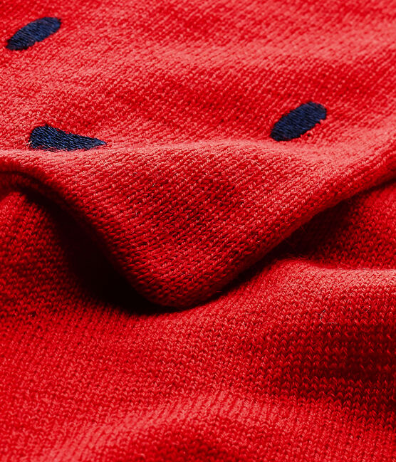 Mixed baby's scarf Froufrou red