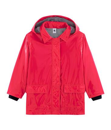 Girls' Gloss Raincoat Signal red
