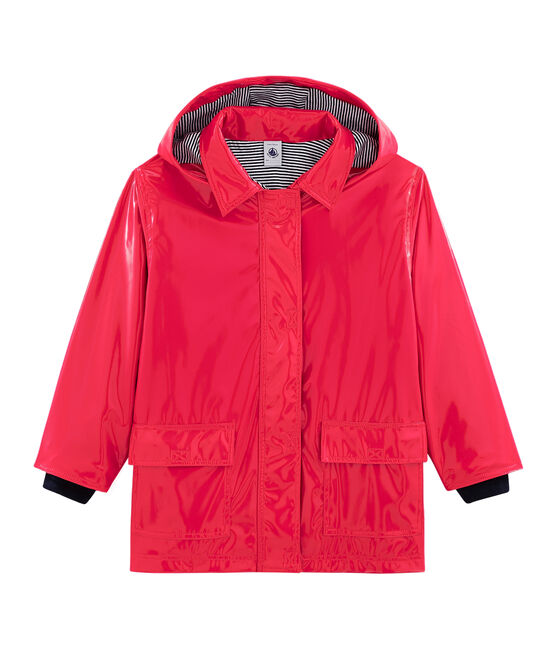Girls' Gloss Raincoat Signal red