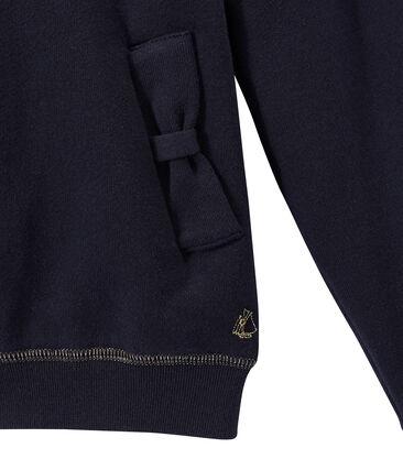 Girl's zippered sweatshirt with hood