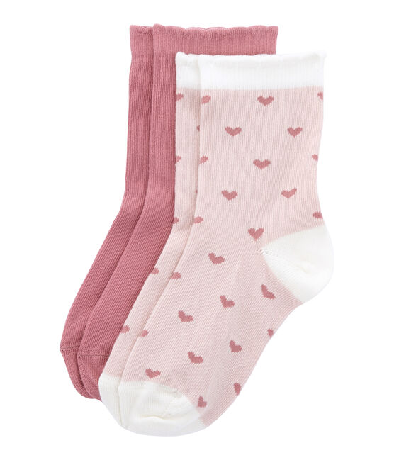 Set of 2 pairs of socks, coloured and patterned . set