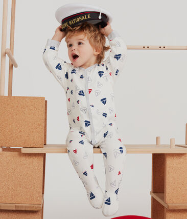 Baby Boys' Tube Knit Sleepsuit