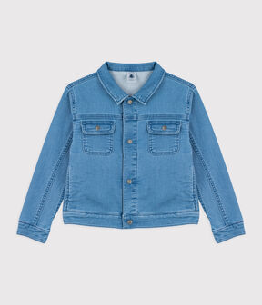 Children's Unisex Denim Jacket with Removable Collar Denim clair blue