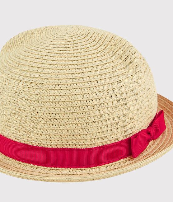 Baby Girls' Straw Hat Naturel pink