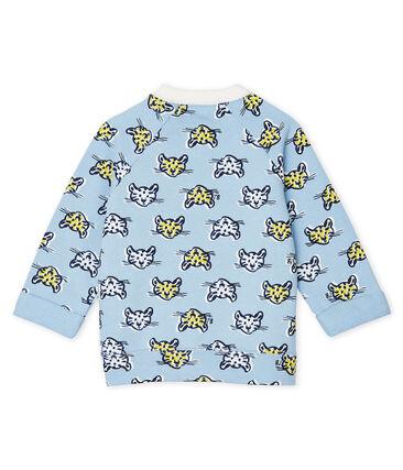 Baby Boys' Fleece Sweatshirt Jasmin blue / Multico white
