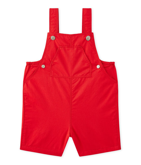 Baby boys' striped short dungarees Terkuit red