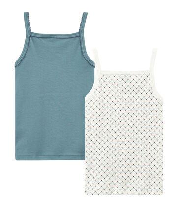 Girls' strap vest - Set of 2 . set
