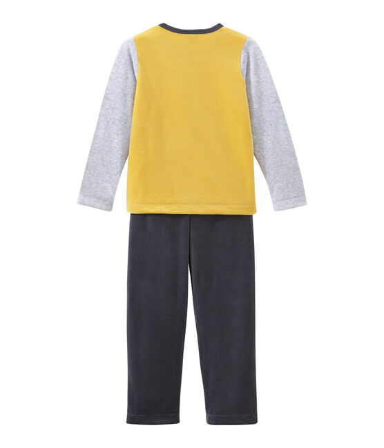 Little boy's pyjamas Maki grey / Multico white