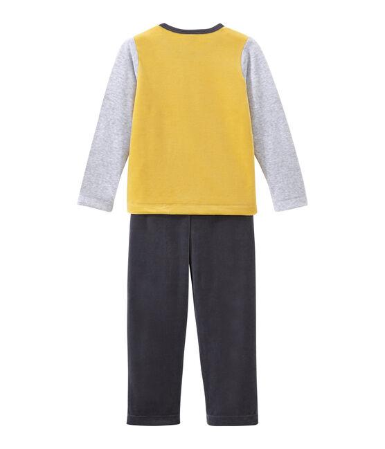 Little boy's pyjamas Maki grey / Multico white