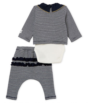 Baby girls' striped clothing - 3-piece set