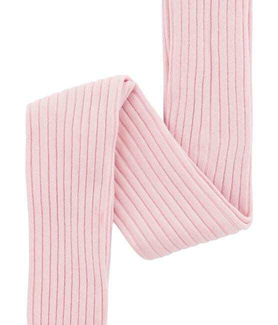 Girl's 5x2 rib tights Joli pink