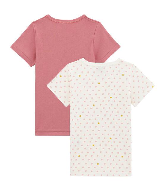 Little girl's short sleeved tee-shirtduo . set