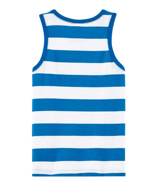 Boys' Sleeveless Top Riyadh blue / Marshmallow white