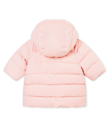 Baby girl's padded microfibre jacket
