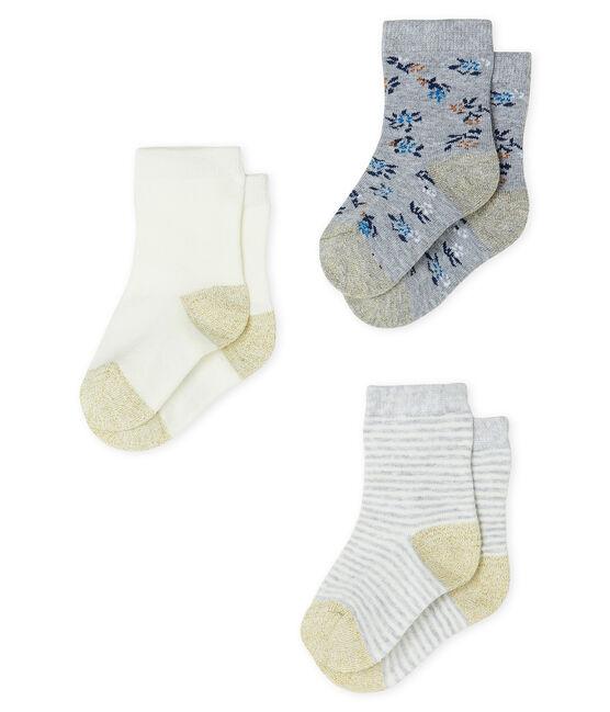 Baby Girls' Socks - 3-Piece Set Beluga grey