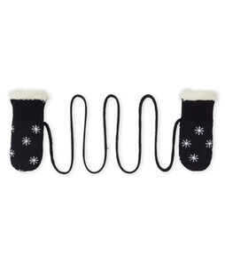 Baby Boys' Sherpa-Lined Mittens Smoking blue / Marshmallow white