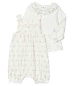 Baby Girls' Clothing - 2-Piece Set Marshmallow white / Perlin beige