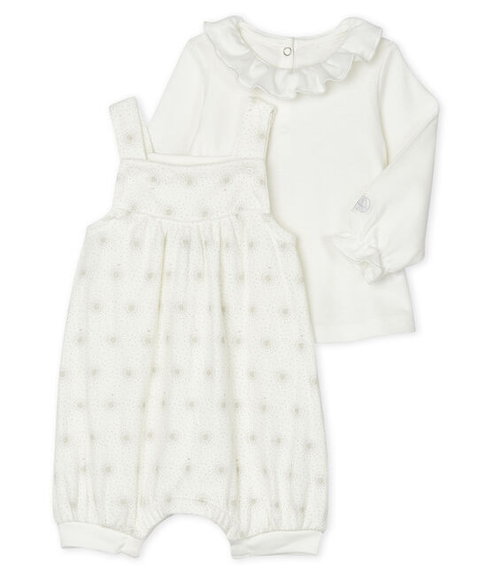 Baby Girls' Clothing - 2-Piece Set Marshmallow white / Perlin beige