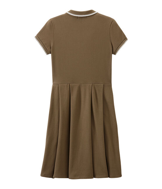 Dress inspired by the polo Shitake brown