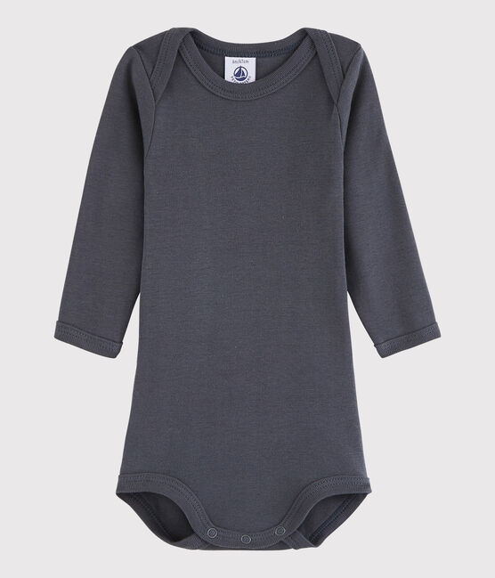 Unisex Babies' Long-Sleeved Bodysuit Maki grey