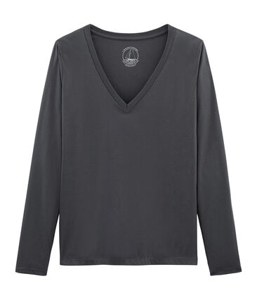 Women's long-sleeved sea island cotton t-shirt