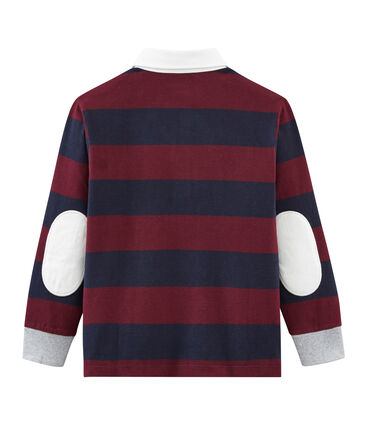 Boy's striped long sleeved rugby shirt
