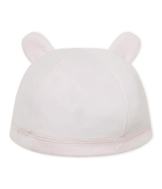 Newborn baby's unisex velours beanie cap Vienne pink