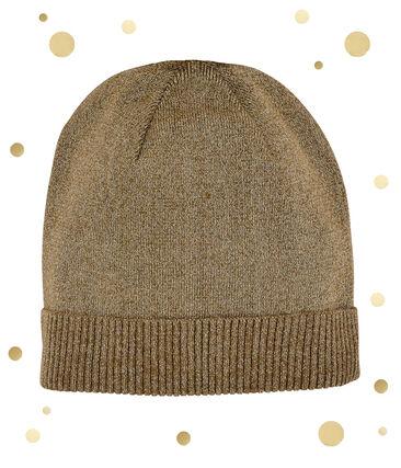 women's gold cap