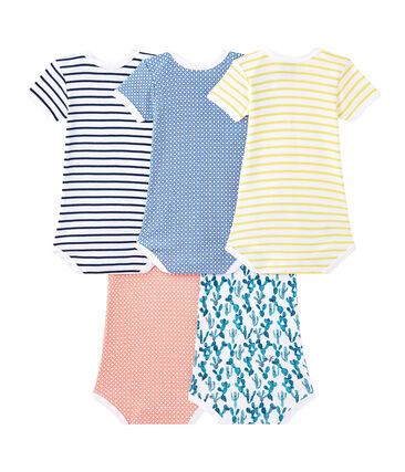 Set of 5 baby boys' short-sleeved bodysuits