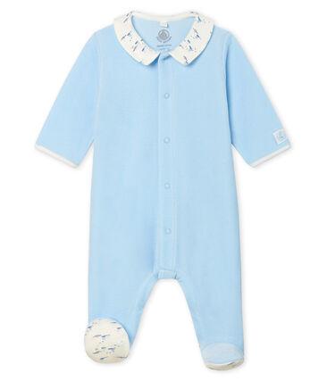 Baby Boys' Velour Sleepsuit Toudou blue