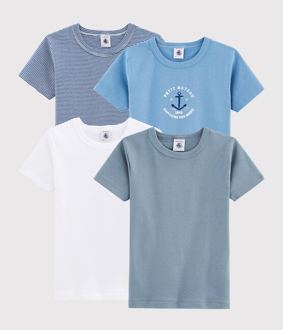 Surprise pack of 4 short-sleeved T-shirts for boys . set