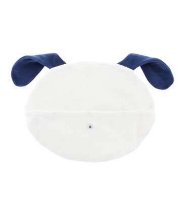 Pyjama Case in Brushed Terry Towelling Marshmallow white / Medieval blue