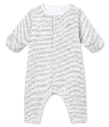 Baby's footless sleepsuit with built in bodysuit
