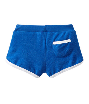 Girl's shorts in terrycloth bouclette