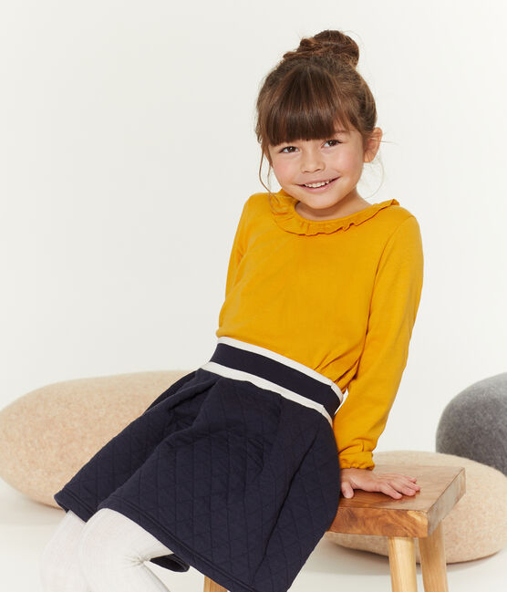 Girls' Long-Sleeved T-shirt Boudor yellow