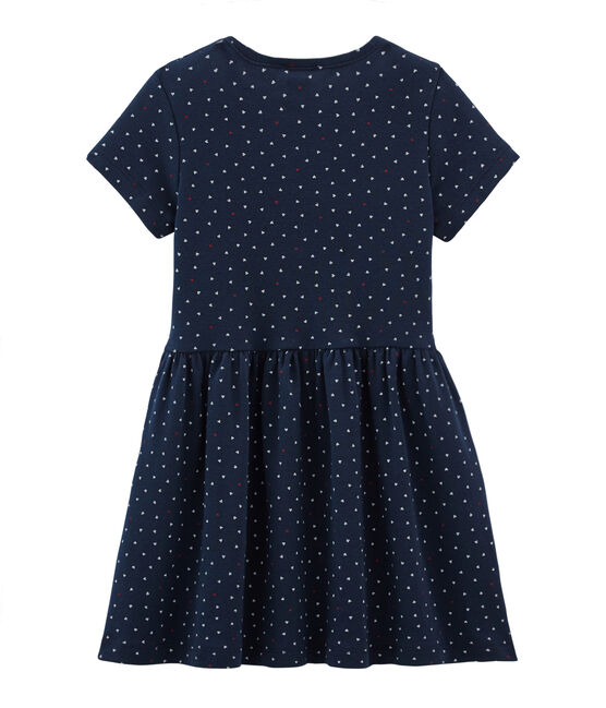 Girls' Dress Haddock blue / Multico white