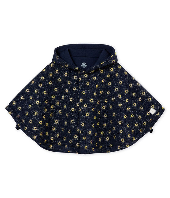 Unisex baby's hat in tubic Smoking blue / Dore yellow