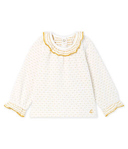 Baby Girls' Long-Sleeved Tube Knit Patterned Blouse