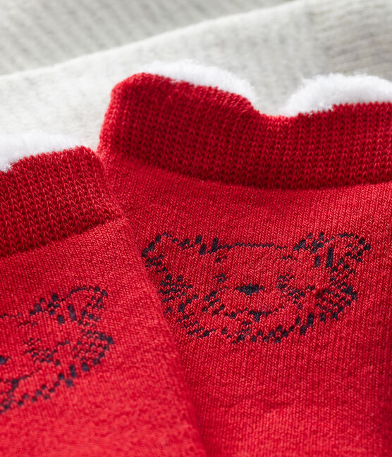 Unisex Babies' Socks - 2-Piece Set Terkuit red
