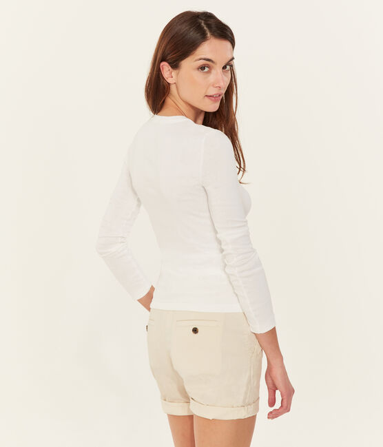 Women's Sea Island cotton T-shirt Marshmallow white